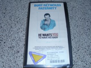 Paternity VHS Burt Reynolds Beverly DAngelo RARE