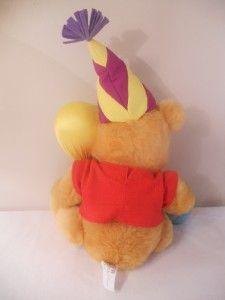 Pooh Bear Disney Happy Birthday Stuffed Plush Balloon