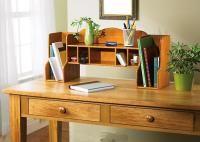 Desktop Wooden Cabinet Mail Bill Organizer Storage New