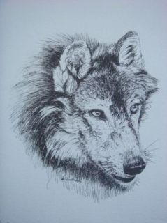 Quattrocchi Signed Limited Wolf Print Original Art