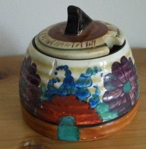 Gayday Bizarre Beehive Honey/Preserve/Jam Pot  Clarice Cliff Sundial