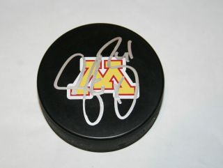 Stu Bickel Signed Minnesota Gophers Hockey Puck Autograph Auto MN w