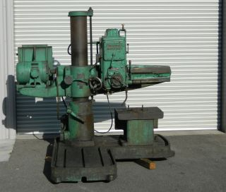 Cincinnai Bickford Radial Arm Drill Drilling Machine