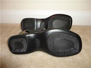 Bjorndal Black Leather Sandals Shoes Cancun Size 6 5 M