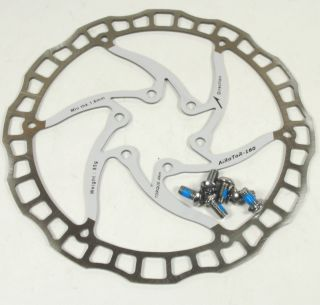 Ashima Airotor Mountain Bike Disc Brake Rotor MTB 160mm 160 mm White