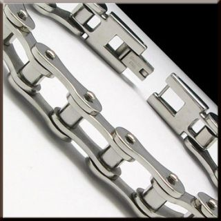 COOL MOTORCYCLE BIKE CHAIN Stainless Steel Link Bracelet 8 6 NEW