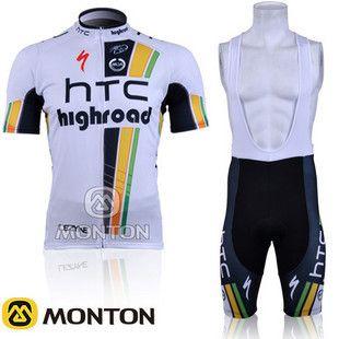 2012 New HTC Cycling Jersey Bib Shorts Cap Bike Bicycle Clothes