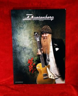 ZZ Top *Billy Gibbons* Duesenberg Guitars Promo Poster