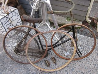 Wood Wheel Rims ANTIQUE BICYCLE 1890s Victorian Ladies Skip Tooth