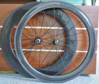 56 86mm 700c Carbon Road Bike Tubular Wheels Wheelsets