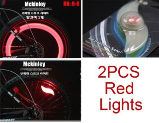 2pcs Bike Bicycle Cycling Wheel Spoke Tire Wire Tyre Bright LED Light