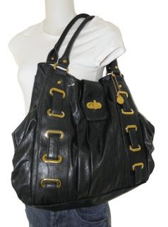 Big Buddha Black Extra Large Black Tote Shopper Hobo Bag