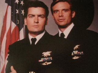 Charlie Sheen Michael Biehn Navy Seals 1990 Photo