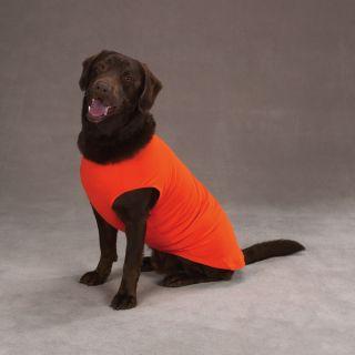 Orange Big Dog Tank top Tee T shirt Stretchy cotton XL 24 L clothing