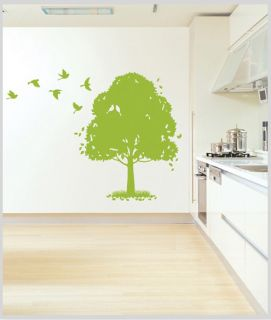 Big Size Happy Tree Wall Decor DIY Vinyl Decal Stickers