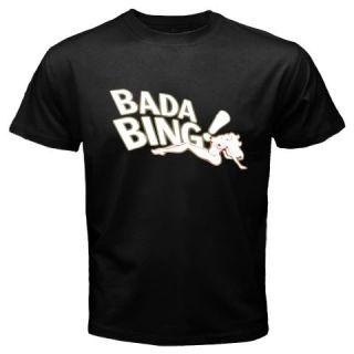 New Mafia Family The Sopranos Bada Bing Black T Shirt