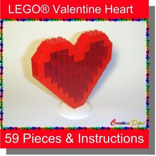 Lego® Large Red Valentines Day Heart Sweetheart Love Gift Set