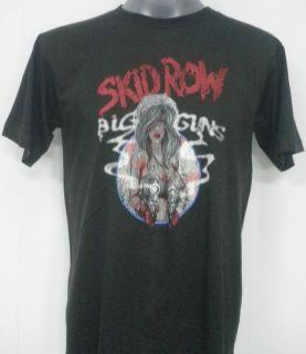 Skid Row Big Guns Rock T Shirt Black Size Large
