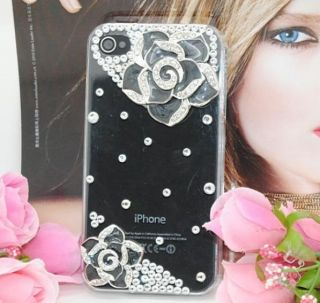 Camellia Crystal Rhinestone DIY for cell Phone iPhone Case Deco Kit #2