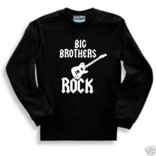 Big Brothers Rock Cool Custom Kids Youth or Toddler Tshirt Black New