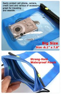 Underwater Case Bag for Camera iPhone Cell Mobile Phone Big
