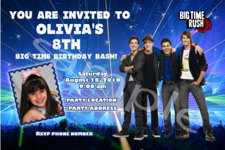 Big Time Rush Personalized Birthday Invitations Party Favors