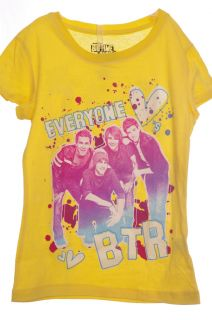 b013 big time rush girl s t shirt item details size 4 5 yellow or