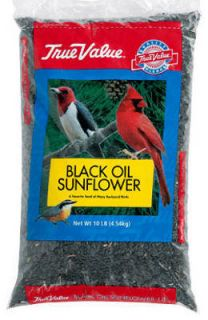 True Value 10 lb Black Oil Sunflower Bird Seed Bag 50059