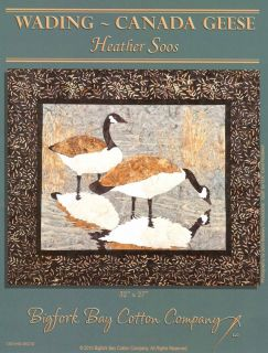 7171 wading canada geese soos bigfork applique quil paern