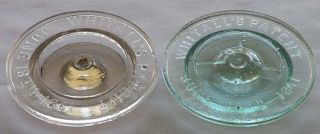 millville atmospheric lids clear and aqua bill dudley collection