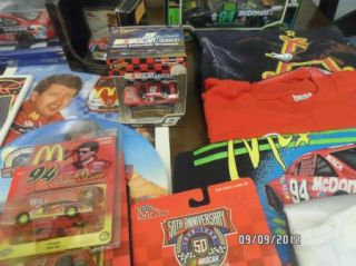 65 PC. BILL ELLIOTT T SHIRTS,TRADING CARDS,CARS COLLECTIBLE COLLECTION