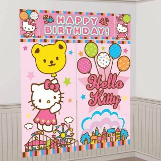 Hello Kitty Scene Setter Wall Decorating Kit Poster Birthday Party