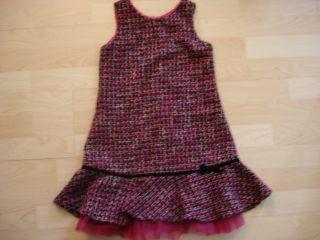 Biscotti Girls 6 Black Pink Silver Tweed Jumper Dress Holiday Tulle