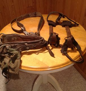 Vintage M. Klein & Sons Lineman Gear Pole Tree Climbing Spikes Belt