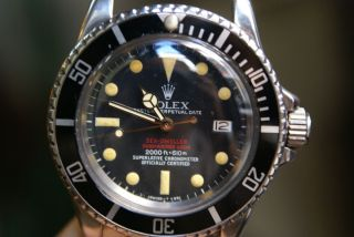 Double Red Sea Dweller Stainless Steel 1977 5 3 Million Serial