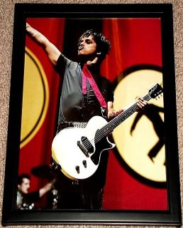 Green Day Billie Joe Armstrong Gibson Jr Framed Tribute