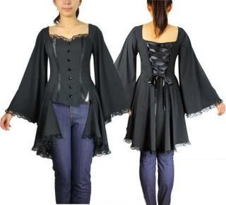 BLACK GOTHIC   WICCAN   VICTORIAN CORSET BACK BUSTIER TOP NWT SZ 14