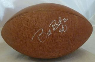 Bill Bates Autographed Signed Official NFL Game Used Football Dallas