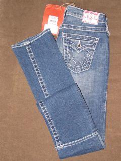 NEW True Religion Swarovski Crystal Disco Billy Big T Jeans Size 24