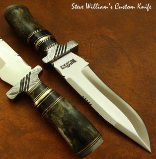 Steve Williams 1 of A Kind RARE Custom Knife Fossil Giraffe Damascus