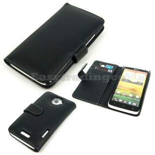 Black Book Agenda Type Leather Case HTC One x XL at T One x LTE with