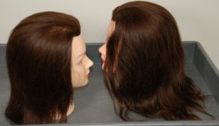 Mannequin Heads 100% Human Hair w/free clamp Debra Bridgette