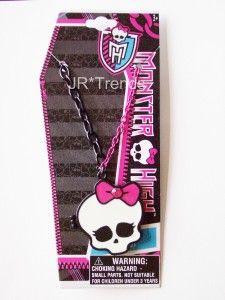 Monster High Dolls Girls Skullette Locket Necklace with Gem Perfect