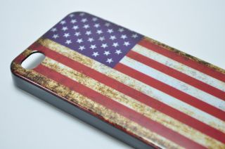 United States USA Flag Theme Back Cover Case for iPhone 4 4S