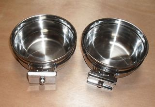 Parrot Bird Cage Stainless Steel Feeder Water Cups Bowls 8066 X 2pcs