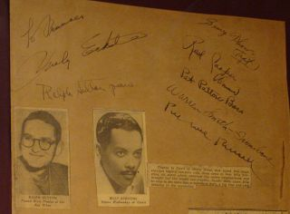 JAZZ Signed & Framed PEE WEE RUSSELL, BILLY ECKSTINE +9