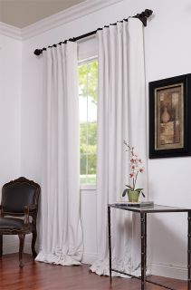 Off White Pole Pocket Velvet Blackout Curtains Drapes