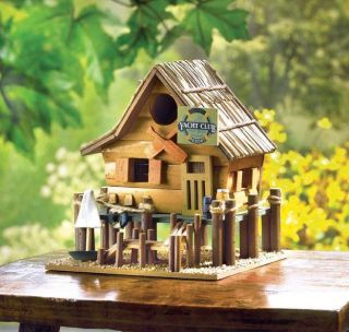 Club Theme WOOD BIRDHOUSE. Decorative/Garden Bird House. Bird Feeder