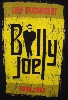 Billy Joel 2007 Large Black Concert Tour T Shirt