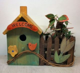 Garden House Birdhouse Large Size Rustic Wood Birdhouse
